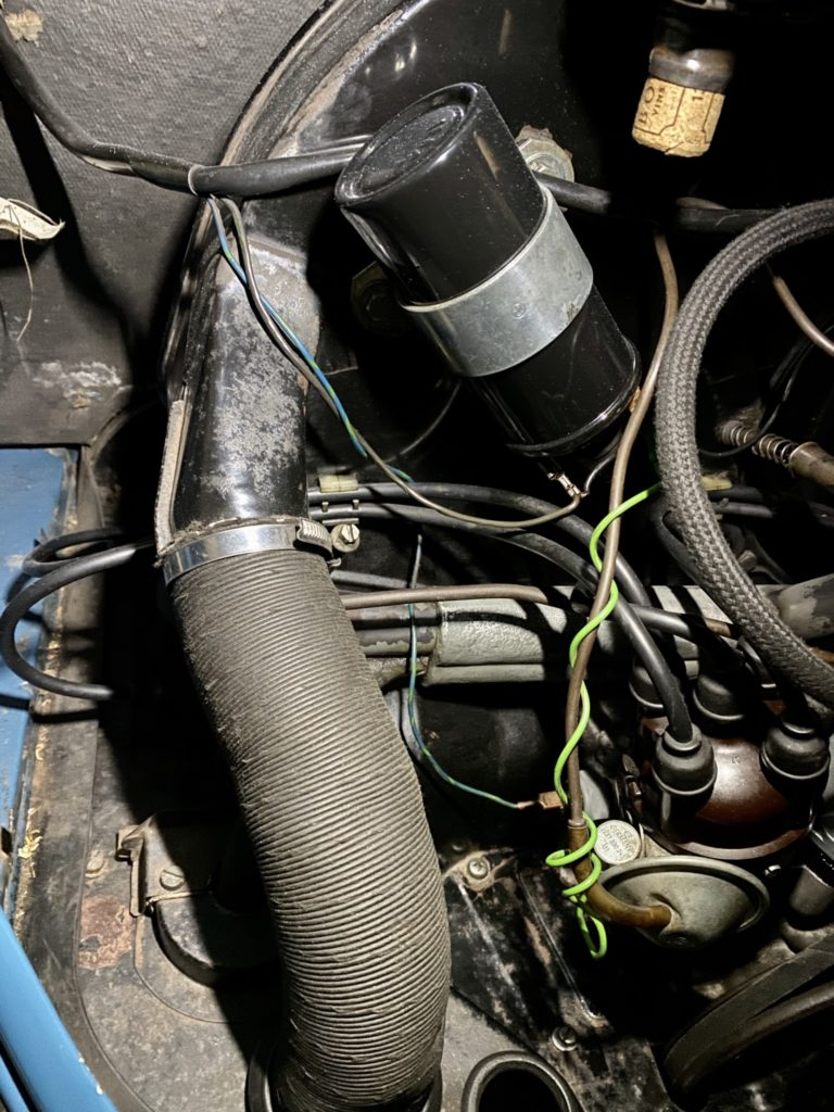 Verkabelung im Motor